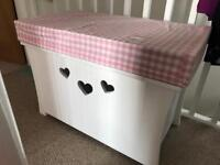 Toy box with cushion