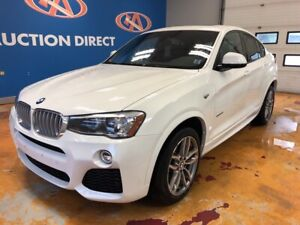 2017 BMW X4 xDrive28i 'M' PACK! NAVI/ PADDLES/ HEATED LEATHER...