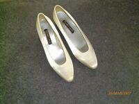 Roland Cartier white satin wedding shoes