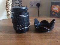 Canon EF-S 18-55mm f/3.5-f/5.6 IS lens with lens hood
