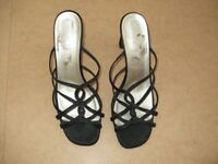 Black heeled sandals - size 5