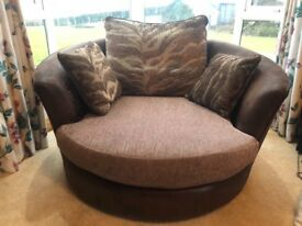 Excellent sofa and swivel chair