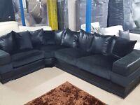 Amazing Large BRAND NEW black velvet corner sofa.Lovely wide arms.can deliver