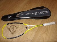 Dunlop Blackstorm Graphite 500 Squash Racket With Cover - Excellent Condition