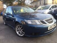 SAAB 9-3 2.0 TURBO VECTOR SPORT ESTATE FACELIFT LEATHER FULL SERVICE HISTORY 10 STAMPS 2 P/OWNER