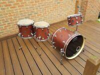 DW Performance Drum Kit 12 14 16 22 Tobacco Satin Oil Finish Drum Workshop