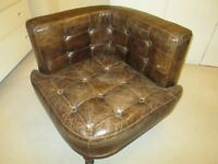 corner leather chair
