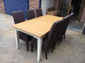 New extending dining table and chairs