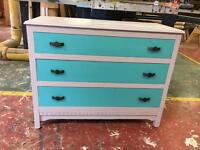 Upcycled vintage chest of draws