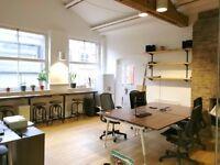 Trendy media office in Shoreditch (2-4 desks)