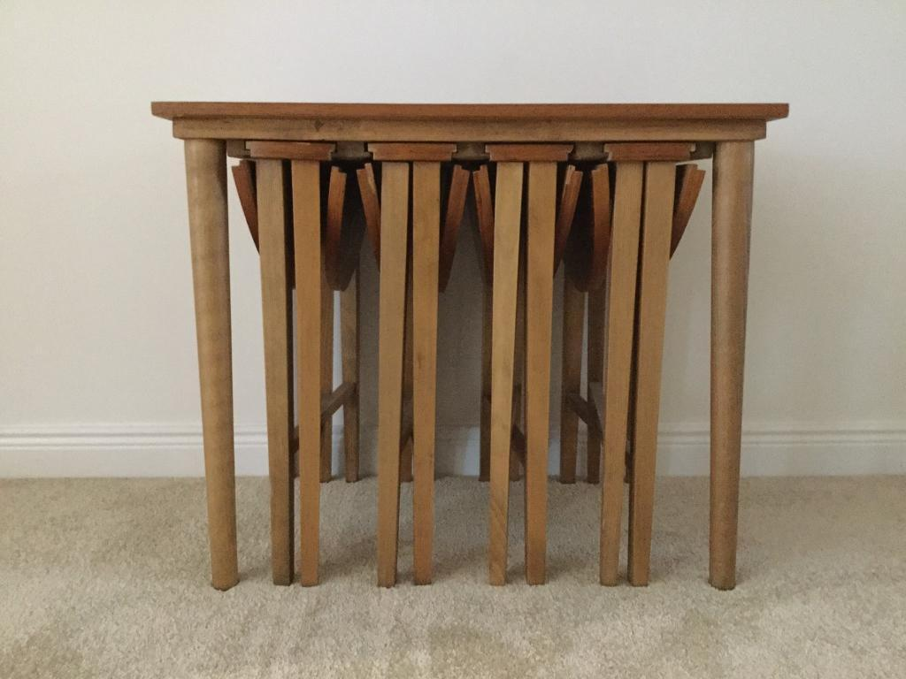 Teak veneer Nest of Tables | in Milton of Campsie, Glasgow ...