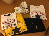 Boys designer clothes Converse and Hilfiger age 10