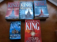 "4 ""Dark Tower"" series books by Stephen King"
