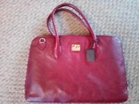 Hidesign genuine red leather bag