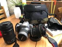Canon EOS 300v and 4 lenses