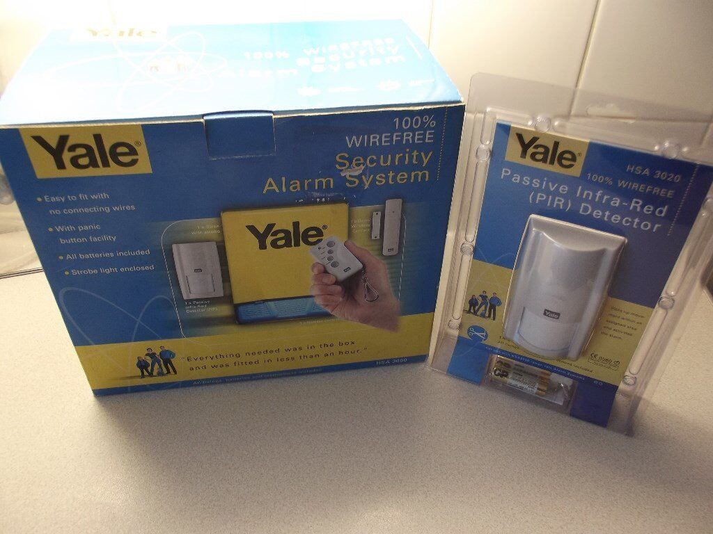 Yale Hsa 3000 Complete Wirefree Alarm System Still In Box With Panic Button Wiring Additional Pir