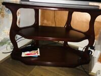 Tv cabinet mahogany brown vintage very good condition