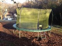 14' Jumpking Trampoline including un used Trampoline tent