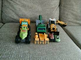 Small and big trucks