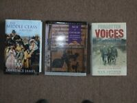 Excellent condition History Books; Forgotten Voices, Age of Chivalry and The Miuddle Class A History