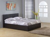 6ft Double King Sized Bed (Dark Brown; Solid Wood)
