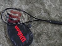 Wilson squash racket with cover