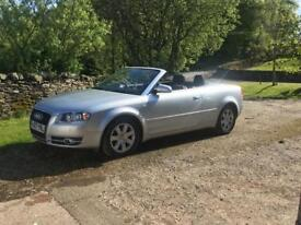 Audi A4 convertible. Low mileage. Leather interior.2ltr