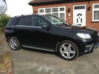 MERCEDES ML 250 AUTOMATIC 2012 BLACK FULL SERVICE HISTORY FULLY LOADED