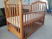 Cosatto Wooden Chantelle Bedside Cot With Drop Down Side