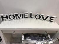 Diamanté Home/ Love light up signs
