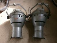 LOVELY OLD THEATRE/STAGE LAMPS