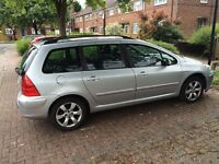 Peugeot 307 - Good Condition - 12 months MOT - £895- Low price for quick sale - clean inside & out