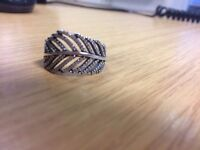 """Pandora """" LEAF"""" ring size 60. Excellent condition as never worn."""