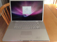 "2007 MacBook Pro 17"" 2.33 GHZ 160GB 2GB Ram OFFICE iLife free bag"