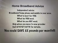 Broadband Advice on best deal for YOU!!