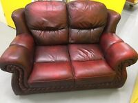 Vintage 2 seat Leather sofas *Delivery available