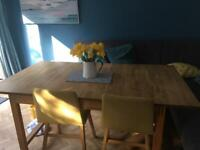 Lovely wooden extendable dining table