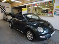 2004 VOLKSWAGEN BEETLE 2.0 CABRIOLET 2DOOR, FULL SERVICE HISTORY, LEATHER SEATS, NEW CLUCH KIT 55K