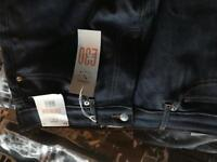 New blue jeans with tags