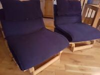 Ikea futons/sofa beds x 2 - or available individually