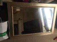 "Silver/gold mirror 30""x42"""