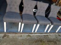 Modern grey windsor dining chairs