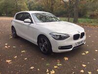 BMW 116D Sport 2014 1 Series ***£30 Tax*Automatic*5 Doors*Diesel*SAT NAV*12 Months MOT*White***