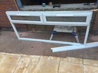 Window UPVC Double glazed width 2m 40cm x depth 1190mm with sill, glass inclusive