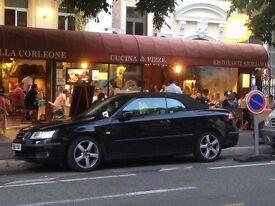 Saab convertible low mileage black