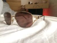 Christian Dior 2492 41 Gold Authentic Women Vintage Sunglasses With Brown/Pink Sunny Lenses
