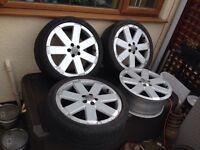 """Audi Oem V6 RS 18"""" 7.5j RARE Alloys vag Item 5x100 Direct Fit To Mk4 Golf Bora"""