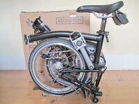 New & Unused B-Spoke H6L Brompton Folding Bike With Accessories