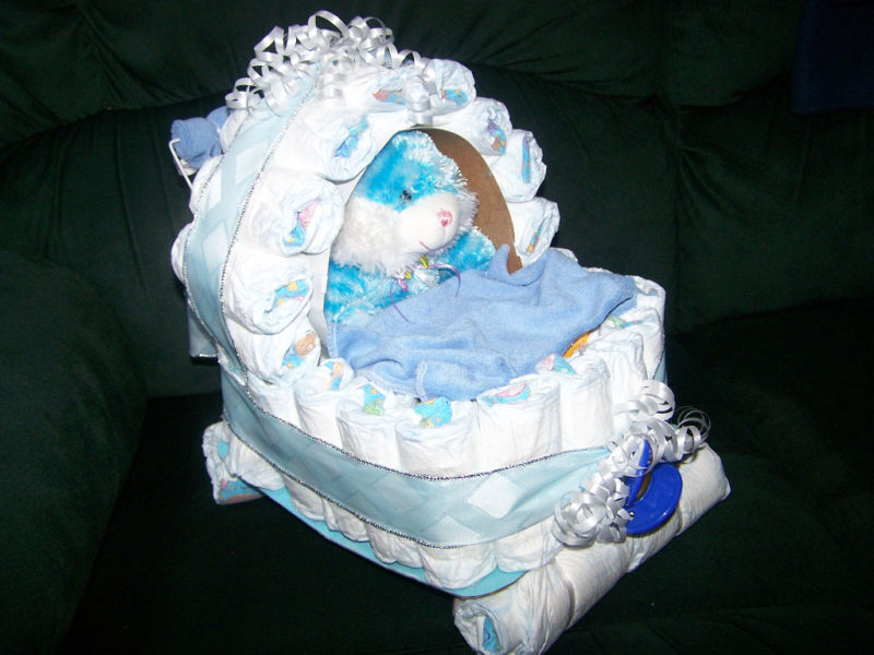 DIAPER BABY BUGGY CARRIAGE -  WITH LOTS OF BABY ITEMS