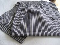 Men's Pyjamas, Size XXL - Designer Navy Pinstripe, NEW WITH TAGS - Quality, Made in Italy